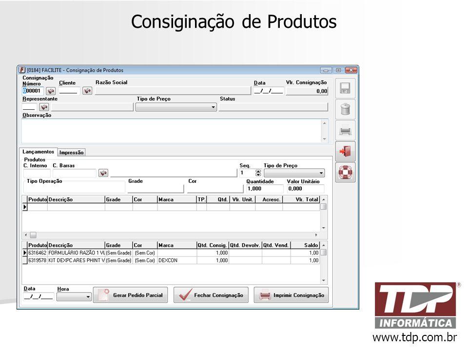 Consiginação de Produtos www.tdp.com.br