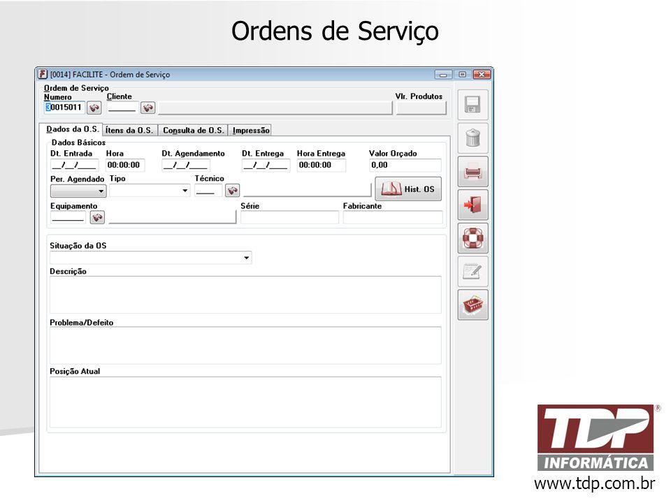 Ordens de Serviço www.tdp.com.br