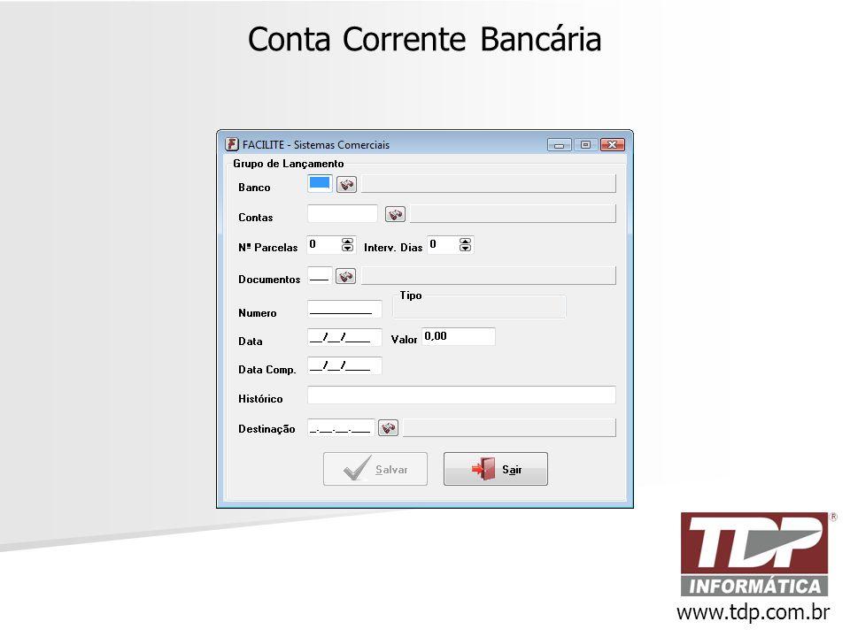Conta Corrente Bancária www.tdp.com.br