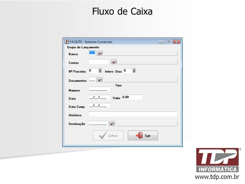 Fluxo de Caixa www.tdp.com.br