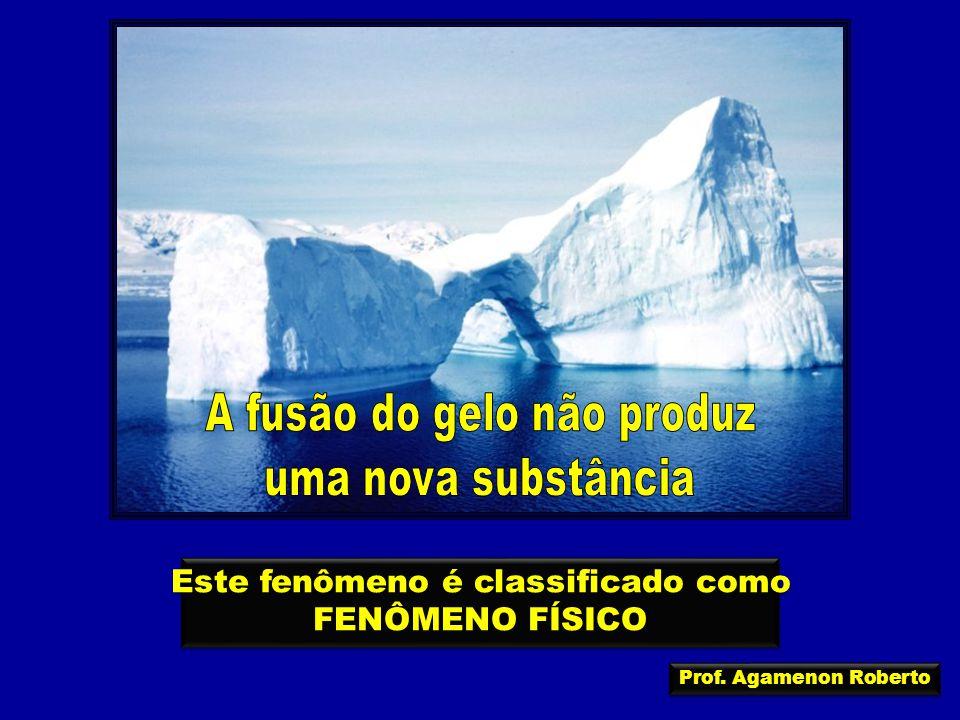 Este fenômeno é classificado como FENÔMENO FÍSICO Este fenômeno é classificado como FENÔMENO FÍSICO Prof. Agamenon Roberto