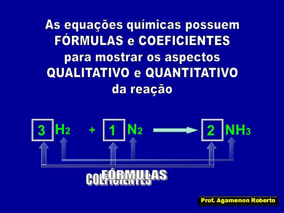 N2N2 H2H2 + NH 3 321 Prof. Agamenon Roberto