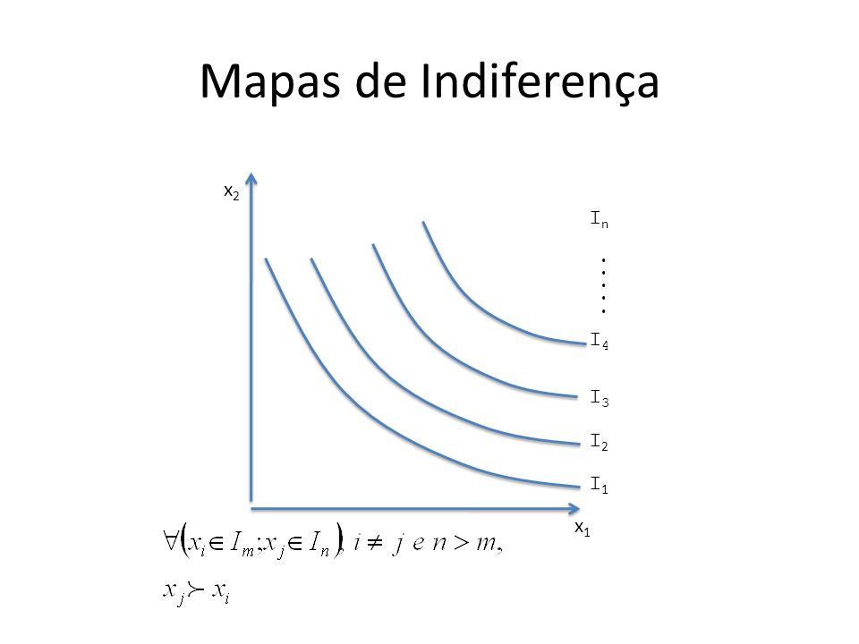 Mapas de Indiferença x1x1 x2x2 InIn I4I4 I3I3 I2I2 I1I1.....