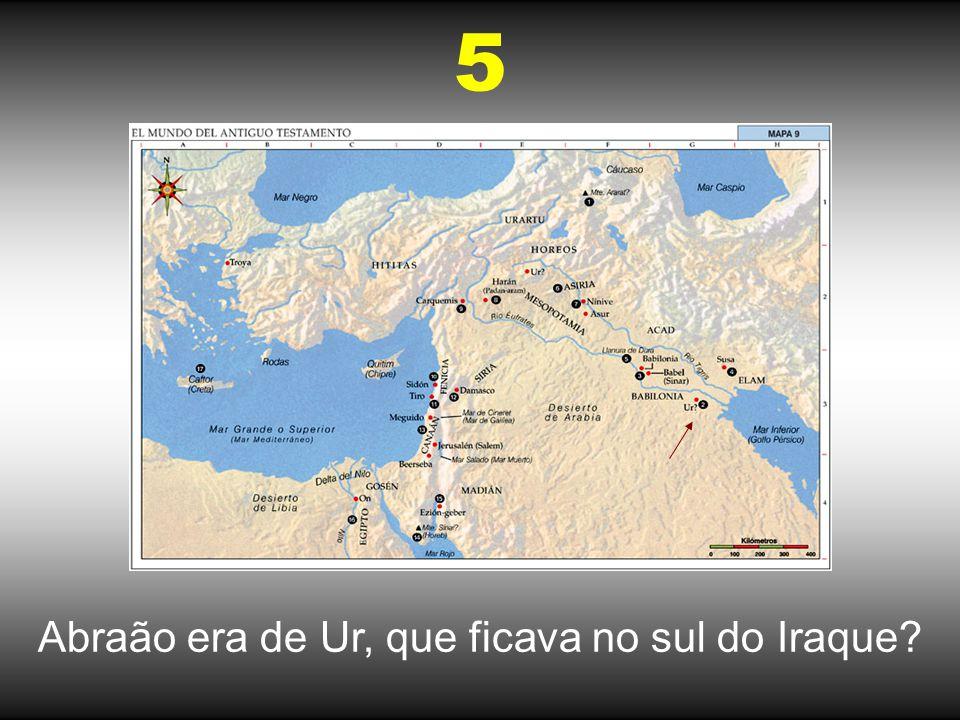 A esposa de Isaac, Rebeca, era de Nahor, que ficava no Iraque? 6