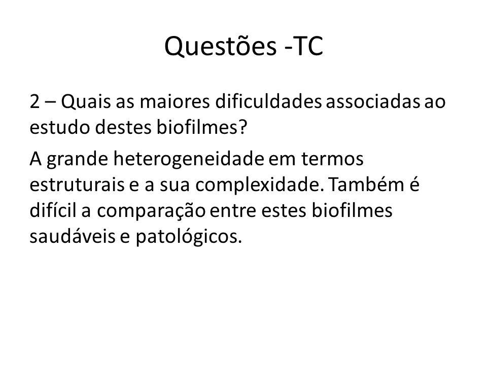 Questões -TC 3 – Como se resolvem os problemas do estudo in vivo.