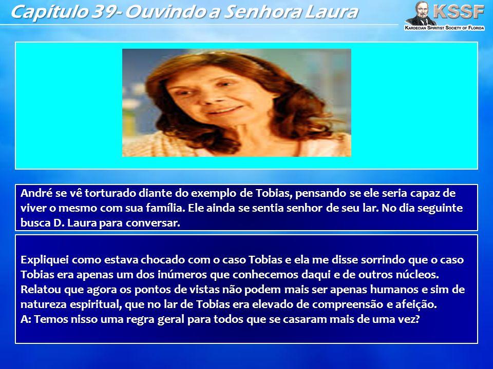 Capítulo 39- Ouvindo a Senhora Laura André se vê torturado diante do exemplo de Tobias, pensando se ele seria capaz de viver o mesmo com sua família.