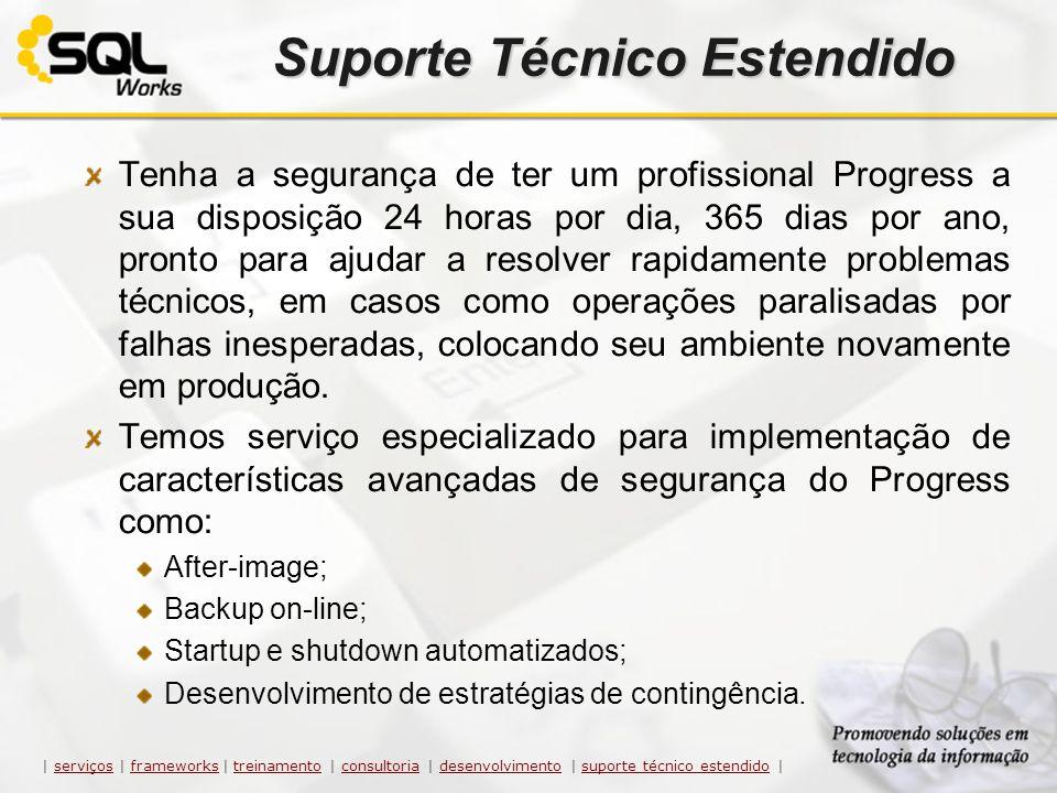 Suporte Técnico Estendido Tenha a segurança de ter um profissional Progress a sua disposição 24 horas por dia, 365 dias por ano, pronto para ajudar a