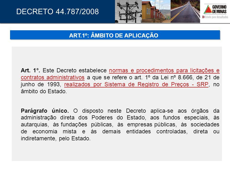 Poderão ser utilizados registros dos atos constantes dos arquivos e registros digitais, os quais deverão ser certificados em sua autenticidade e serão válidos para todos os efeitos legais, inclusive para comprovação e prestação de contas; Nos autos do processo que conter documentos elaborados e assinados por meio de recursos de certificação digital, realizada por autoridade certificadora credenciada no âmbito da Infra-Estrutura de Chaves Pública Brasileira - ICP Brasil, deverá haver menção a esse fato em folha específica numerada na seqüência em que o documento estiver juntado ao processo, onde deverá ser indicada ainda a localização do arquivamento eletrônico do documento; DECRETO 44.787/2008 ARTS 32 A 34: DISPOSIÇÕES FINAIS E TRANSITÓRIAS