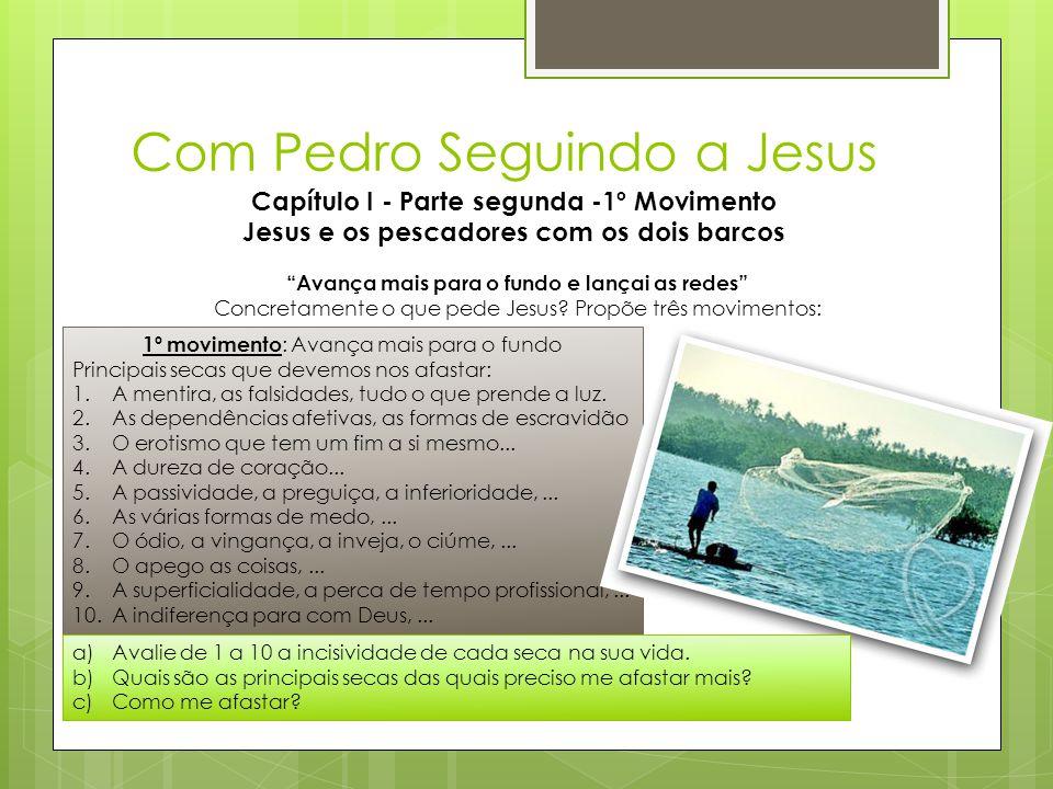 """Com Pedro Seguindo a Jesus Capítulo I - Parte segunda -1º Movimento Jesus e os pescadores com os dois barcos """"Avança mais para o fundo e lançai as red"""
