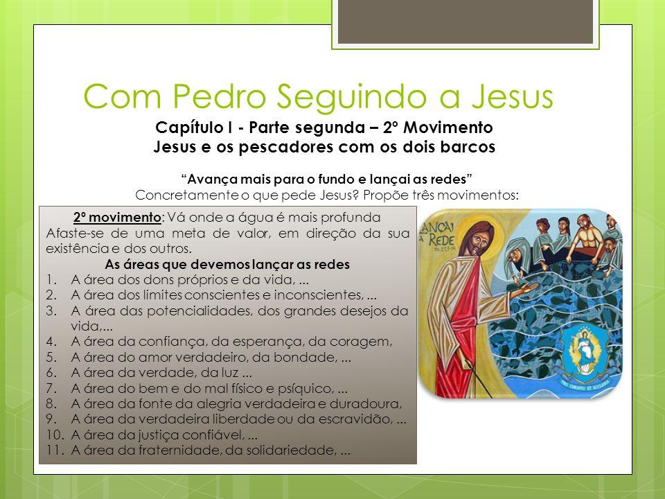 """Com Pedro Seguindo a Jesus Capítulo I - Parte segunda – 2º Movimento Jesus e os pescadores com os dois barcos """"Avança mais para o fundo e lançai as re"""