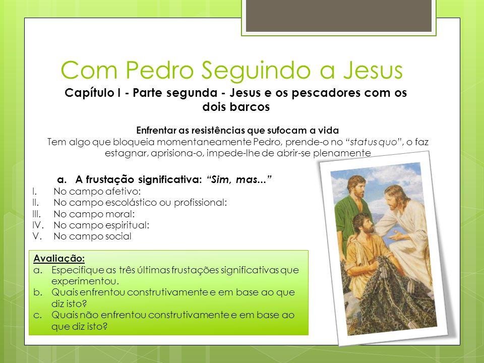 Com Pedro Seguindo a Jesus Capítulo I - Parte segunda - Jesus e os pescadores com os dois barcos Enfrentar as resistências que sufocam a vida Tem algo