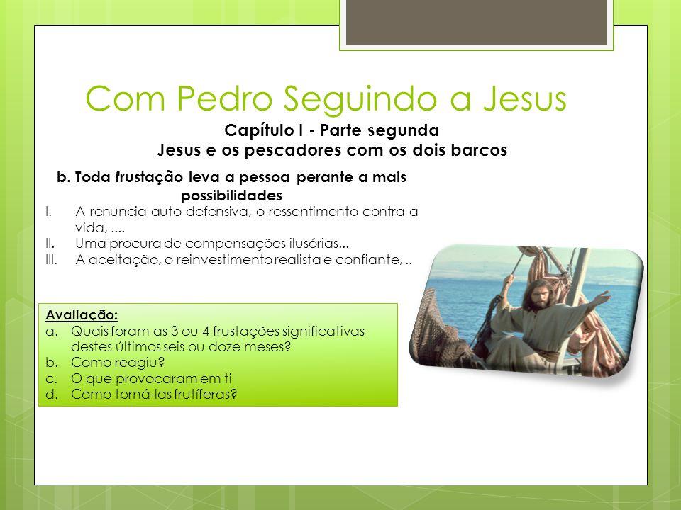 Com Pedro Seguindo a Jesus Capítulo I - Parte segunda Jesus e os pescadores com os dois barcos b. Toda frustação leva a pessoa perante a mais possibil