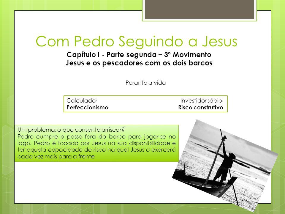Com Pedro Seguindo a Jesus Capítulo I - Parte segunda – 3º Movimento Jesus e os pescadores com os dois barcos CalculadorInvestidor sábio Perfeccionism