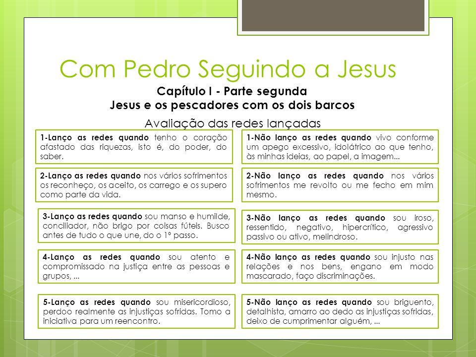 Com Pedro Seguindo a Jesus Capítulo I - Parte segunda Jesus e os pescadores com os dois barcos 1-Lanço as redes quando tenho o coração afastado das ri