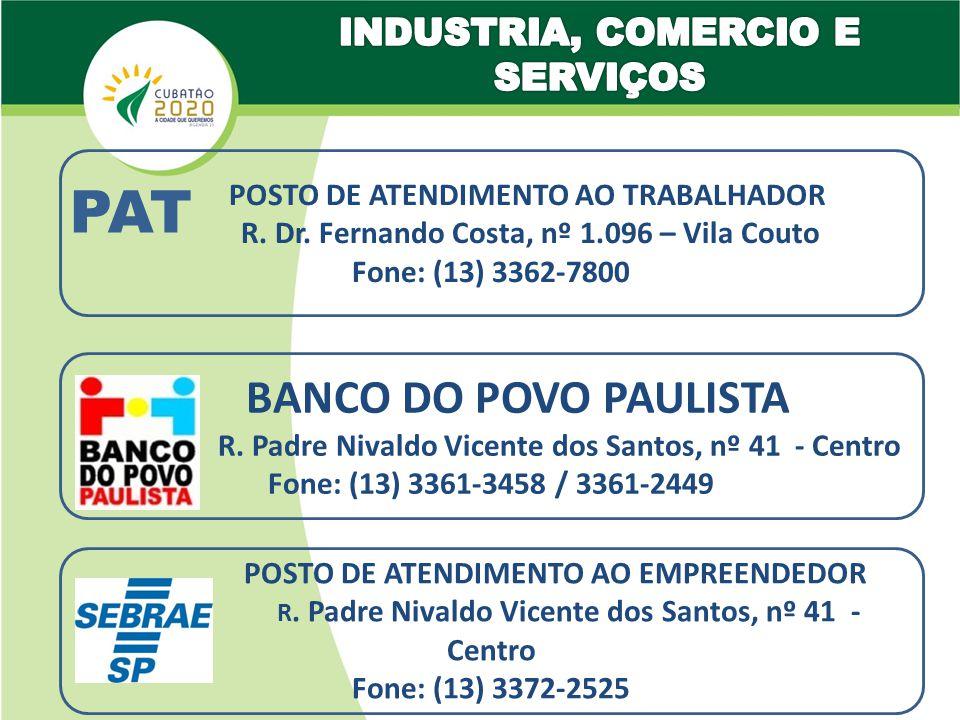 PAT POSTO DE ATENDIMENTO AO TRABALHADOR R.Dr.