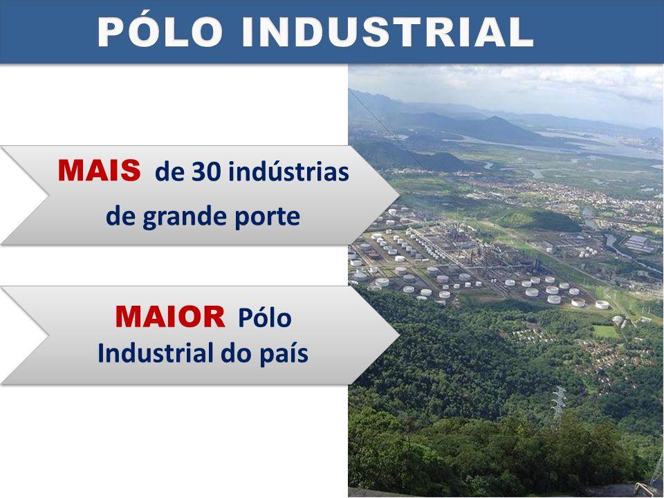 omposto principalmente pelo pólo petroquímico e pelo vasto parque siderúrgico.