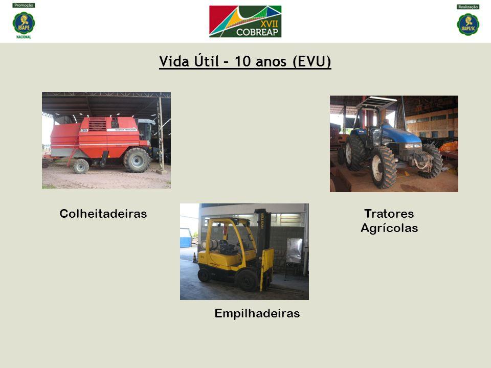 Vida Útil – 10 anos (EVU) Colheitadeiras Empilhadeiras Tratores Agrícolas