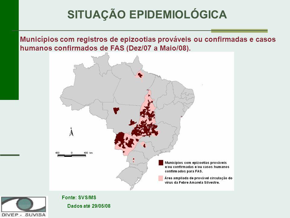 Renato Freitas Mª do Socorro Santos SITUAÇÃO EPIDEMIOLÓGICA Municípios com registros de epizootias prováveis ou confirmadas e casos humanos confirmado