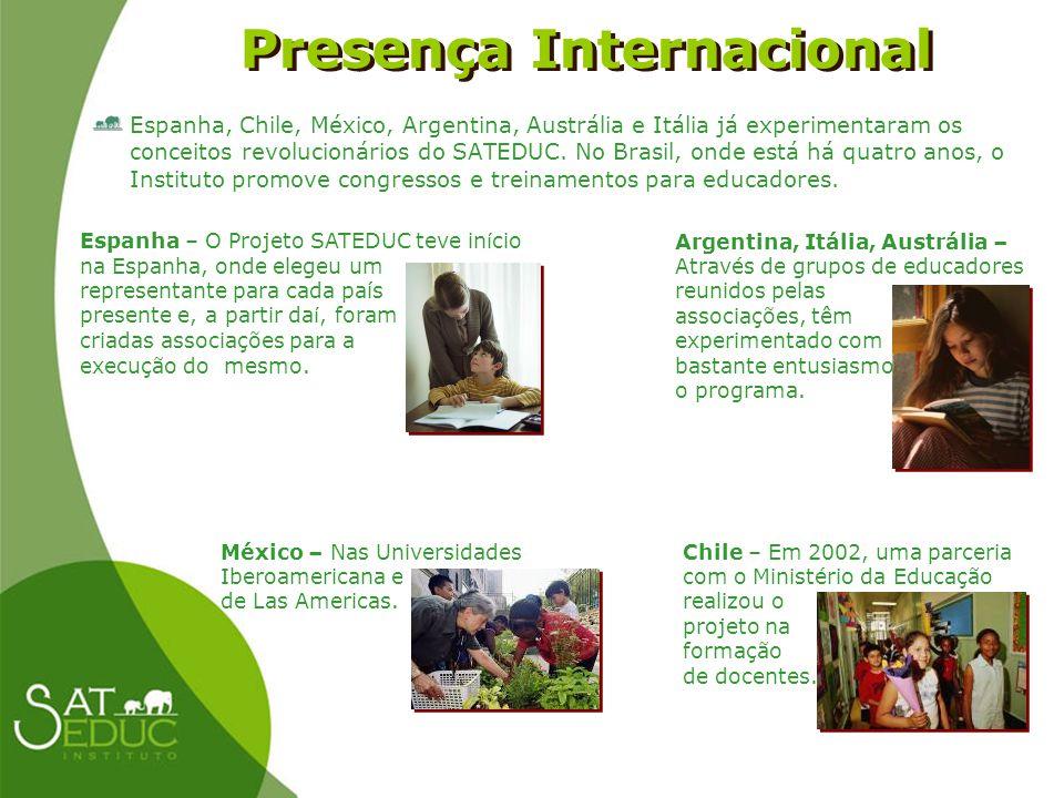 Presença Internacional Presença Internacional Espanha, Chile, México, Argentina, Austrália e Itália já experimentaram os conceitos revolucionários do
