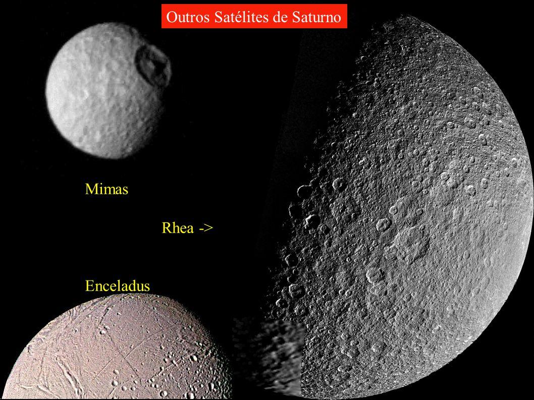 Mimas Rhea -> Enceladus Outros Satélites de Saturno