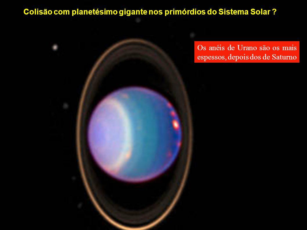 Colisão com planetésimo gigante nos primórdios do Sistema Solar ? Os anéis de Urano são os mais espessos, depois dos de Saturno