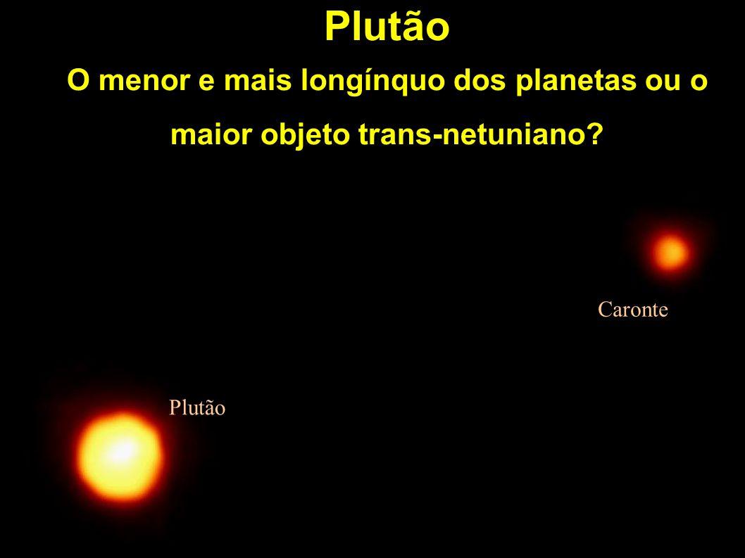 Plutão O menor e mais longínquo dos planetas ou o maior objeto trans-netuniano? Plutão Caronte