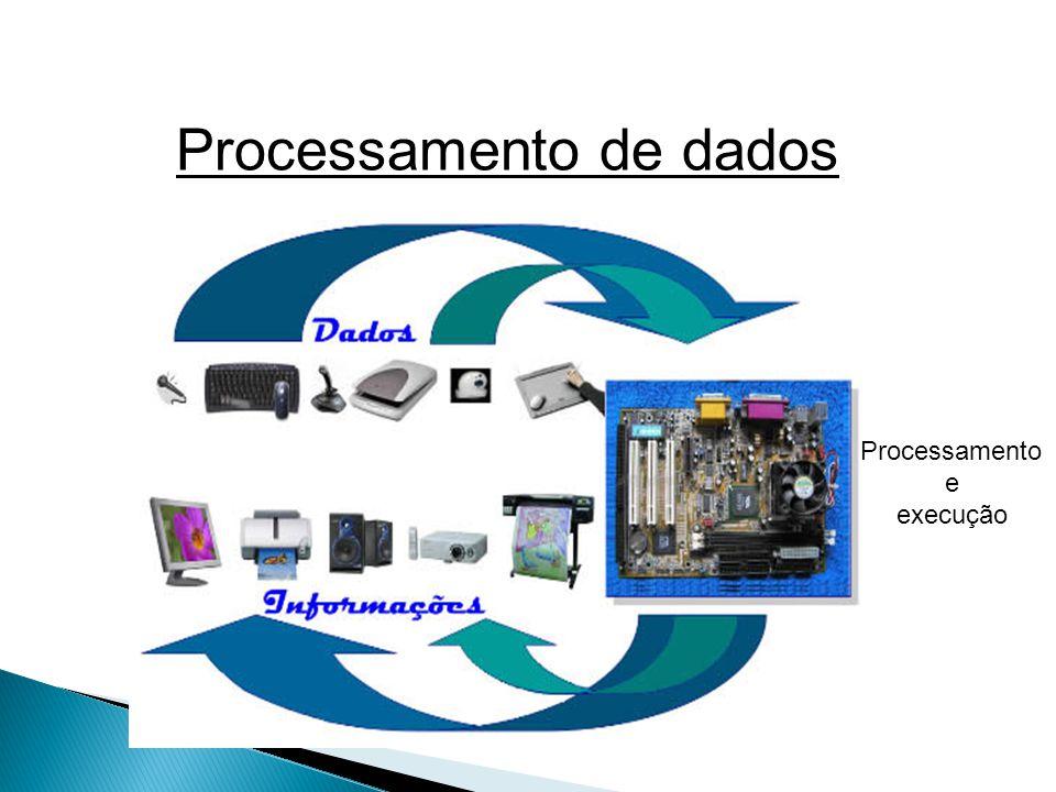 Principal dispositivo do computador – cérebro do computador – motor do computador 3 componentes principais Velocidade: HZ(Hertz) – atualmente GigaHertz Ex: 2GHZ (+ou – 2 bilhões de instruções por segundo) Socket
