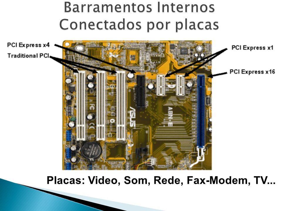 Placas: Video, Som, Rede, Fax-Modem, TV...