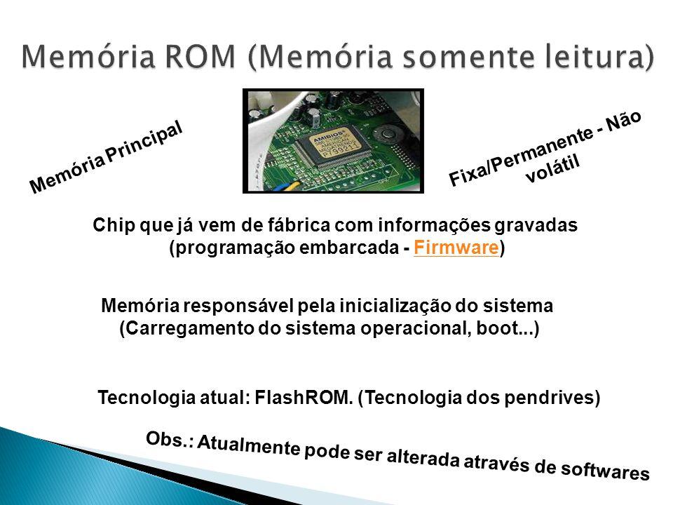 Tecnologia atual: FlashROM.