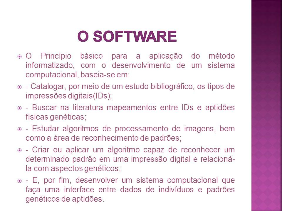  O Princípio básico para a aplicação do método informatizado, com o desenvolvimento de um sistema computacional, baseia-se em:  - Catalogar, por mei