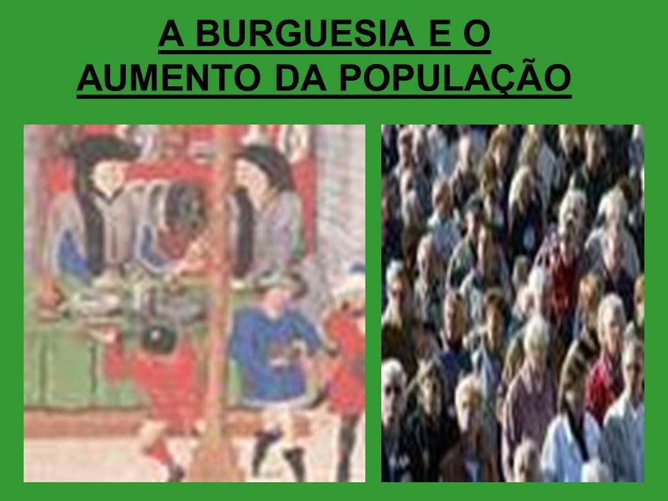 A BURGUESIA E O AUMENTO DA POPULAÇÃO
