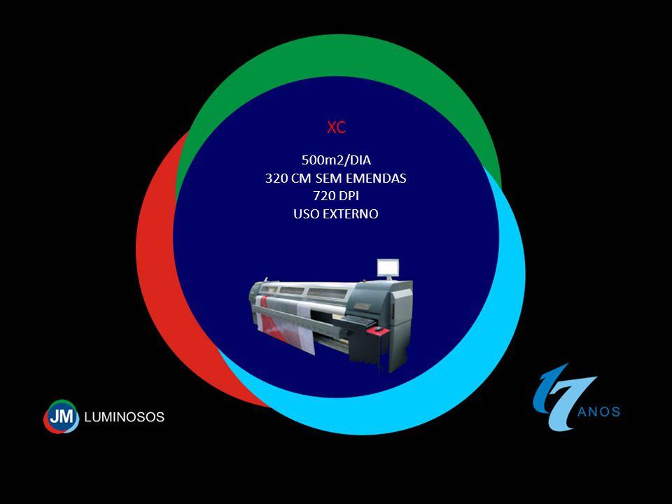 500m2/DIA 320 CM SEM EMENDAS 720 DPI USO EXTERNO XC
