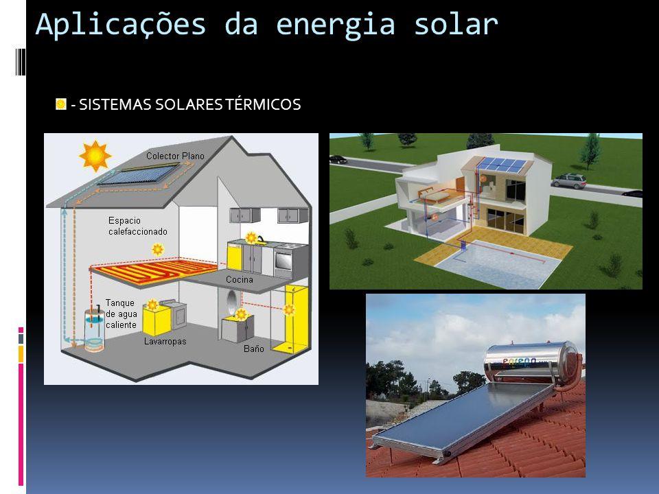 Aplicações da energia solar - SISTEMAS SOLARES TÉRMICOS