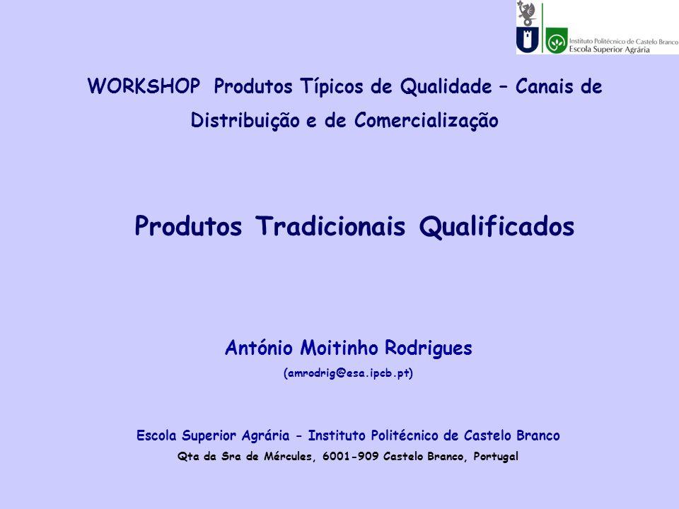 WORKSHOP Produtos Típicos de Qualidade – Canais de Distribuição e de Comercialização António Moitinho Rodrigues (amrodrig@esa.ipcb.pt) Escola Superior