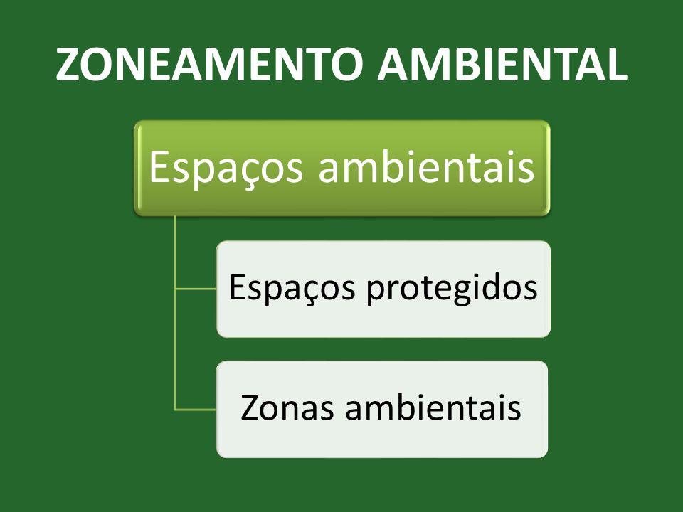 ZONEAMENTO AMBIENTAL Espaços ambientais Espaços protegidosZonas ambientais