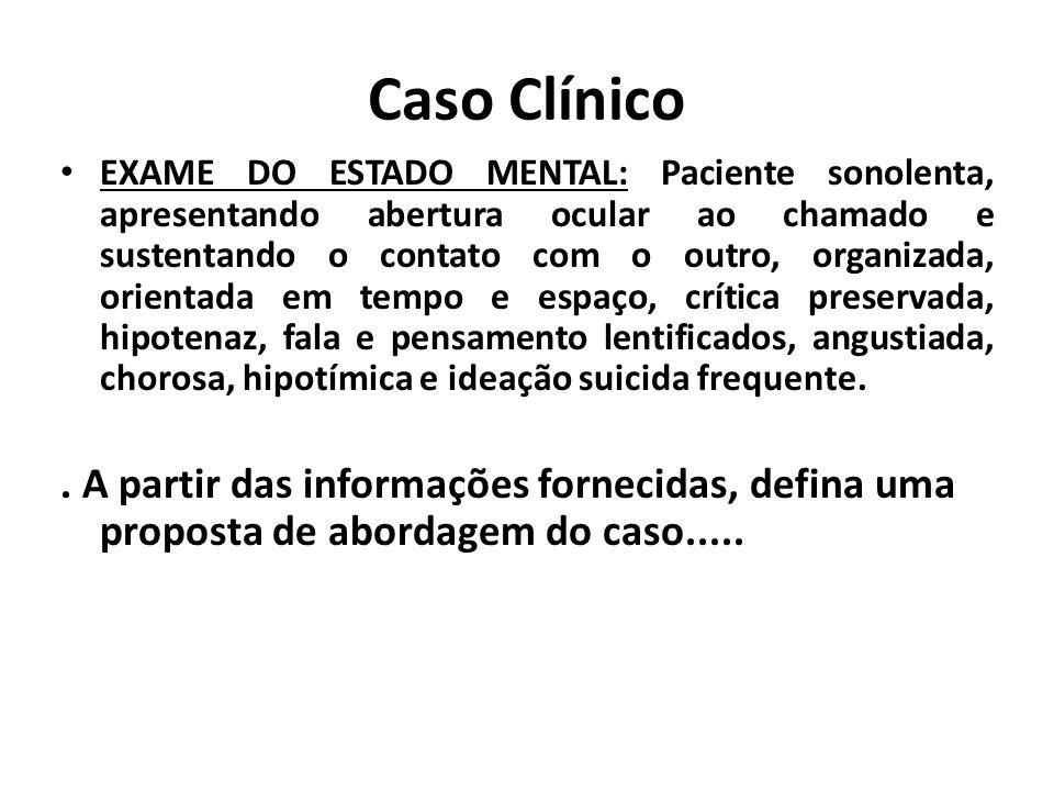 Suicídio e transtornos mentais Fonte: BERTOLOTE, J. M. 2002 Auto-extermínio NÃO é diagnóstico!