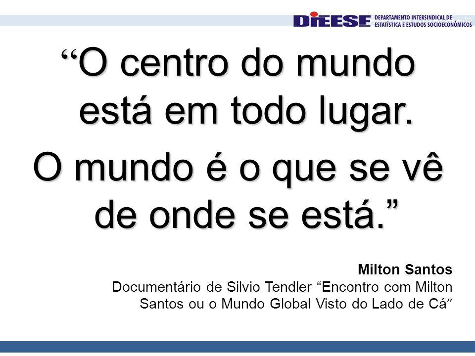 """Milton Santos Documentário de Silvio Tendler """"Encontro com Milton Santos ou o Mundo Global Visto do Lado de Cá """" """" O centro do mundo está em todo luga"""