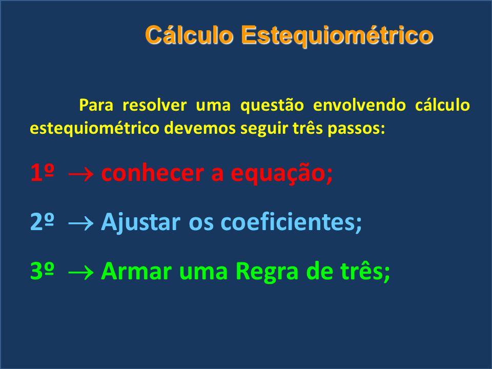 Relações Molares N 2 + 3H 2  2NH 3 Mol - 1Mol + 3Mol  2Mol Moléculas - 6 x10 23 + 18 x10 23  12 x10 23 Massa - 28g + 6g  34g Volume – 22,4L + 67,2L  44,8L