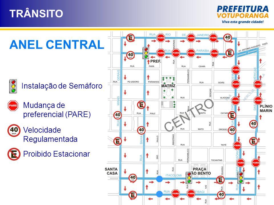 Objetivos - Diminuir o número de acidentes; - Estimular o trânsito pelas ruas do anel central; - Melhorar o escoamento e o fluxo de veículos; - Organizar o trânsito de veículos pesados (Caminhões e ônibus); - Favorecer o usuário do comércio central com facilidades de acesso e estacionamento.