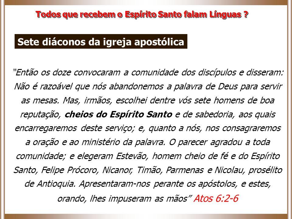 Então os doze convocaram a comunidade dos discípulos e disseram: Não é razoável que nós abandonemos a palavra de Deus para servir as mesas.