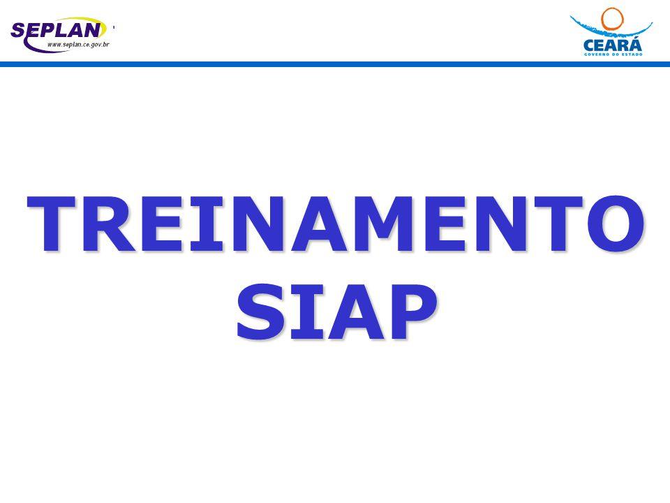 TREINAMENTO SIAP  para os projetos de aquisição de veículo, acrescentar o número do processo de solicitação à SEAD.