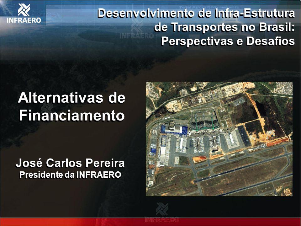 Roteiro 1.Infraero: grandes números 2.Estrutura de financiamento da infra-estrutura aeroportuária 3.Investimentos realizados – 2003 a 2006 4.Relação entre investimentos e arrecadação – 2003 a 2006 5.Necessidade de investimentos – 2007 a 2010 6.Fontes adicionais para investimento 7.Conclusões 1.Infraero: grandes números 2.Estrutura de financiamento da infra-estrutura aeroportuária 3.Investimentos realizados – 2003 a 2006 4.Relação entre investimentos e arrecadação – 2003 a 2006 5.Necessidade de investimentos – 2007 a 2010 6.Fontes adicionais para investimento 7.Conclusões