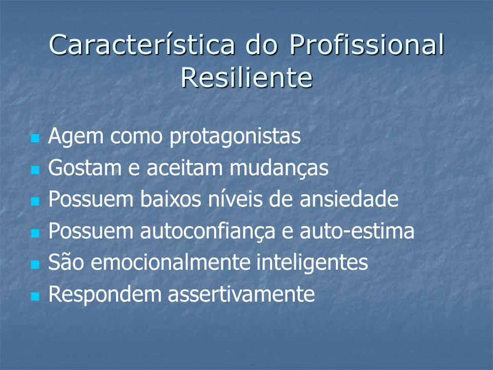 Treinando a Resiliência  Adaptar-se  Reajustar-se  Reagir de forma inteligente a pressões  Antecipar de acontecimentos