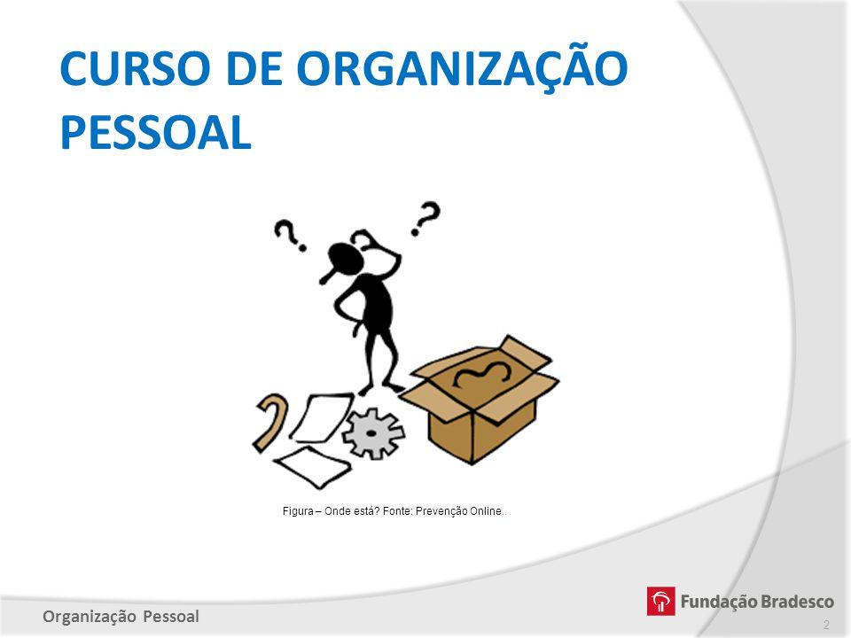 Organização Pessoal Figura – Onde está? Fonte: Prevenção Online.. CURSO DE ORGANIZAÇÃO PESSOAL 2