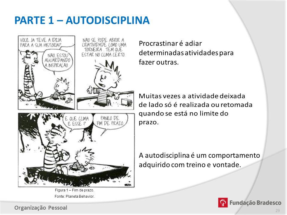 Organização Pessoal PARTE 1 – AUTODISCIPLINA 29 Figura 1 – Fim de prazo. Fonte: Planeta Behavior.