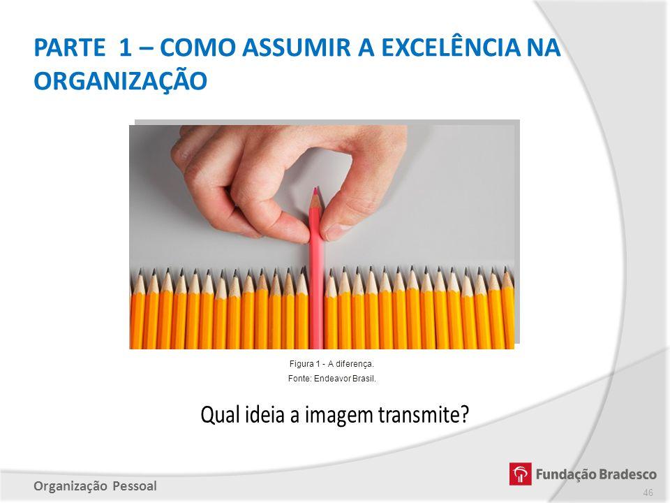 Organização Pessoal PARTE 1 – COMO ASSUMIR A EXCELÊNCIA NA ORGANIZAÇÃO 46 Figura 1 - A diferença. Fonte: Endeavor Brasil.