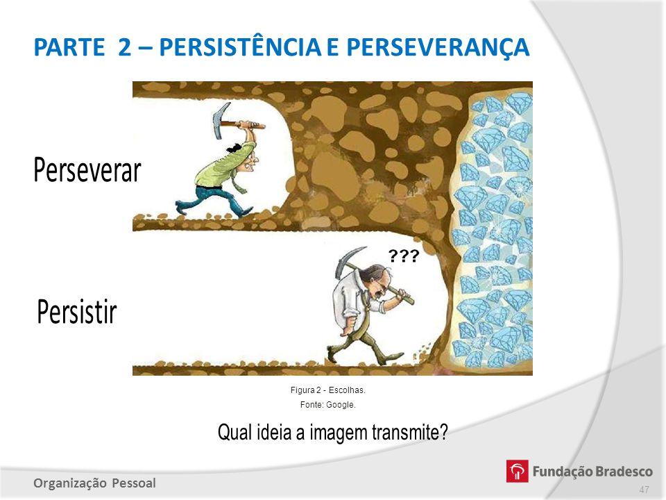 Organização Pessoal PARTE 2 – PERSISTÊNCIA E PERSEVERANÇA 47 Figura 2 - Escolhas. Fonte: Google.