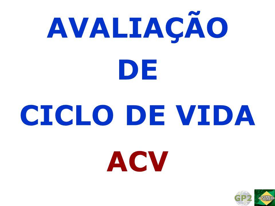 DE AVALIAÇÃO CICLO DE VIDA ACV