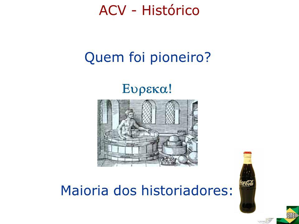 Quem foi pioneiro? Maioria dos historiadores:  ACV - Histórico