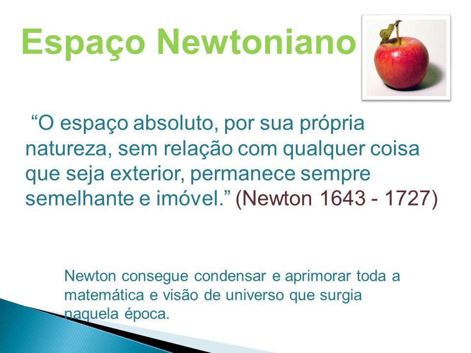 """Espaço Newtoniano """"O espaço absoluto, por sua própria natureza, sem relação com qualquer coisa que seja exterior, permanece sempre semelhante e imóvel"""